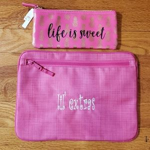 BRAND NEW 2 cosmetic bags Thirty-one ChCharlie NWT